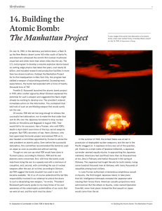 14. Building the Atomic Bomb: The Manhattan
