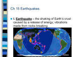 Notes on Earthquakes