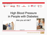 Blood pressure (BP) target for people with