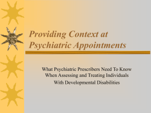 Psychiatric Appointment Form Powerpoint