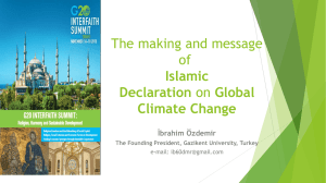The making and message of Islamic Declaration on Global Climate