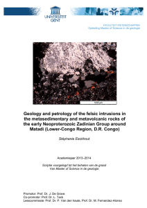 Geology and petrology of the felsic intrusions in the
