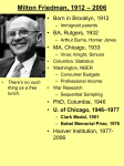 "Milton Friedman: Major Scientific Books and Articles ""Professor"