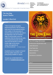 The Lion King lyceum Theatre London`s West End