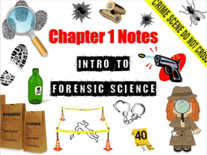 Forensic Science Bundle - Magoffin County Schools