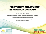 Stereotactic Body Radiotherapy - Windsor Cancer Research Group