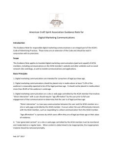 ACSA Digital Media Guidelines - American Craft Spirits Association