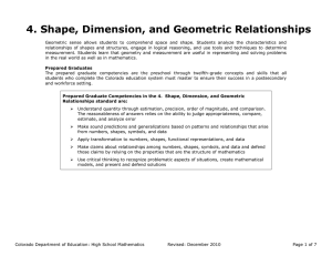 4. Shape, Dimension, and Geometric Relationships