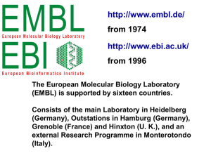 European Molecular Biology Institute European Bioinformatics Institute