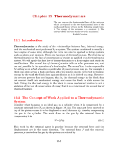 Chapter 19 Thermodynamics - Farmingdale State College