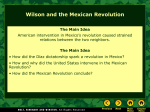 Lesson 17-4: Wilson and the Mexican Revolution