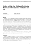 Airflow in High-rise Multi-unit Residential Buildings with Respect to