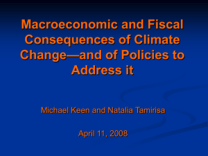 Fiscal Implications of Climate Change