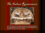 "Renaissance means ""rebirth"". It refers to the period that followed"