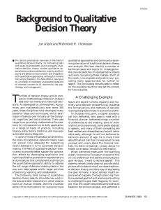 Background to Qualitative Decision Theory