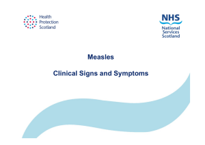 Measles Clinical Signs and Symptoms