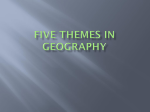 Five Themes in Geography