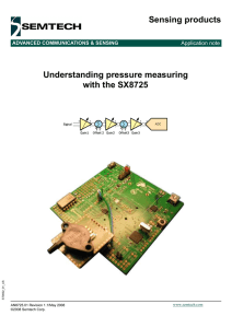 Understanding Pressure Measuring with Overview on Sensor Signal