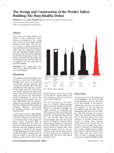 The Design and Construction of the World`s Tallest Building: The