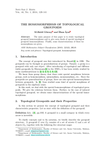 THE HOMOMORPHISMS OF TOPOLOGICAL GROUPOIDS 1