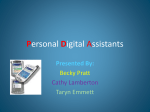 Personal Digital Assistants
