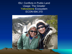 Five Themes of Yellowstone 2011- Tressa Earley and Mary Ann Lee