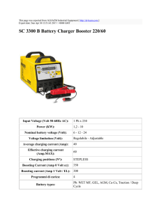 SC 3300 B Battery Charger Booster 220/60 : ALHAZM Industrial