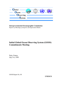 Initial Global Ocean Observing System (GOOS) Commitments