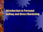 Introduction to Personal Selling and Direct Marketing
