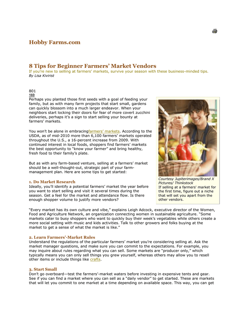 Farmers Market Began Its 2009 Season >> 8 Tips For Beginner Farmers Market Vendors