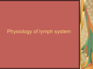 PHYSIOLOGY OF VENOUS AND LYMPHATIC SYSTEM