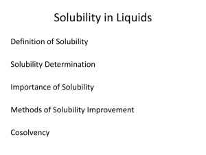 Methods of solubility improvements