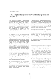 Financing the Peloponnesian War: the Peloponnesian perspective