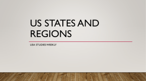 US STATES AND REGIONS