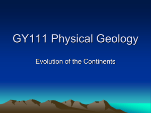 GY111 Introductory Geology - University of South Alabama