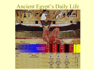 Ancient Egypt*s Daily Life