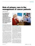Role of primary care in the management of cancer patients