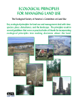 ecological principles for managing land use