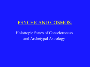 PSYCHE AND COSMOS:
