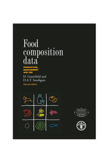 Food composition data