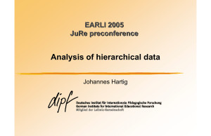 Analysis of hierarchical data