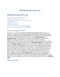Whooping cough vaccine cpt