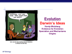 Darwin`s Ideas and Natural Selection