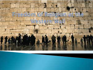 Freedom of Religion at the Western Wall