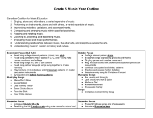 Grade 5 Music Year Outline