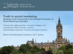 Truth in social marketing - World Social Marketing Conference