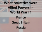 What countries were allies in World War I?