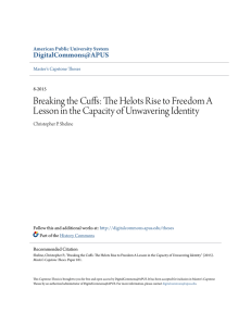 Breaking the Cuffs: The Helots Rise to Freedom A Lesson in the