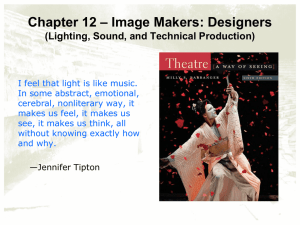 Chapter 12—Image Makers: Designers (Lighting and Sound)
