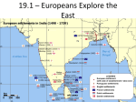 19.1 – Europeans Explore the East